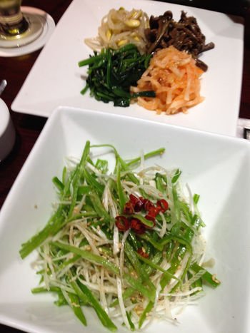 Close-up Day Food Food And Drink Freshness Green Onion Healthy Eating Healthy Food Healthy Lifestyle Indoors  Korean Food Long Onion Namul No People Plate Ready-to-eat Salad Serving Size Table Vegetable