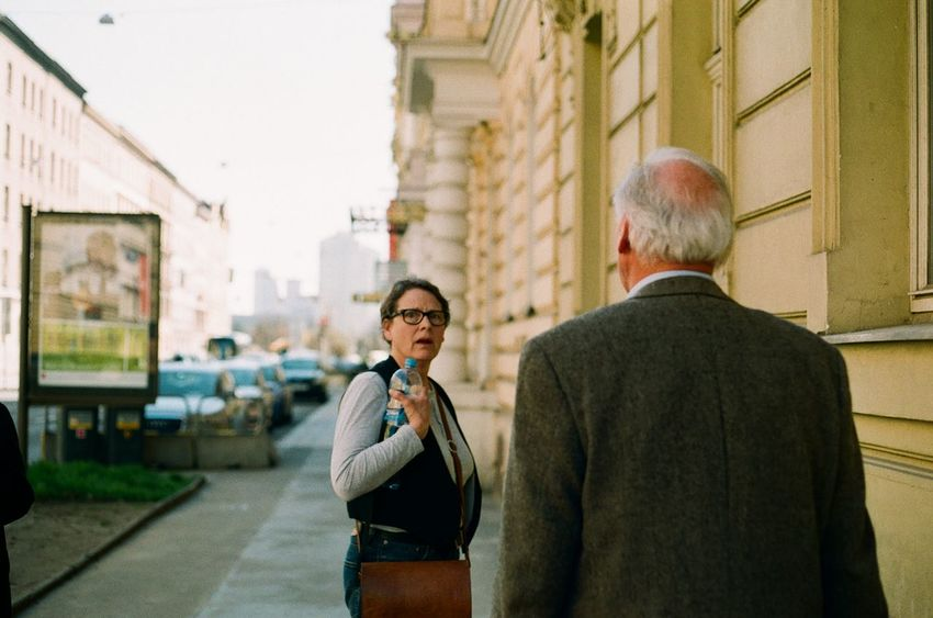 Two People Mature Adult Arguing  Businessman Senior Adult Mature Men Gray Hair Business Men City Adults Only Rear View People Adult Walking Couple EyeEmNewHere Street Photo Canonphotography Architecture Streetphotography Contrast Travelling Photography Street Art EyeEm Gallery