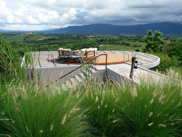 Cloudy Sky Panorama Photography Panoramic View Architecture Beauty In Nature Cloud - Sky Day Field Grass Grass Flower Green Color High Scene View Landscape Mountain Mountain Range Nature No People Outdoor Relaxation Area Outdoors Scenics Sky Tranquility Tree