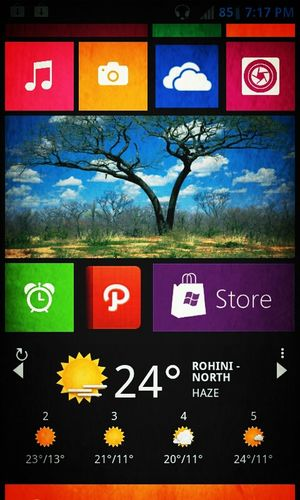 running launcher8 a Windows phone look alike launcher on my Android device Android Photos Windows Phone WinPhan Launcher