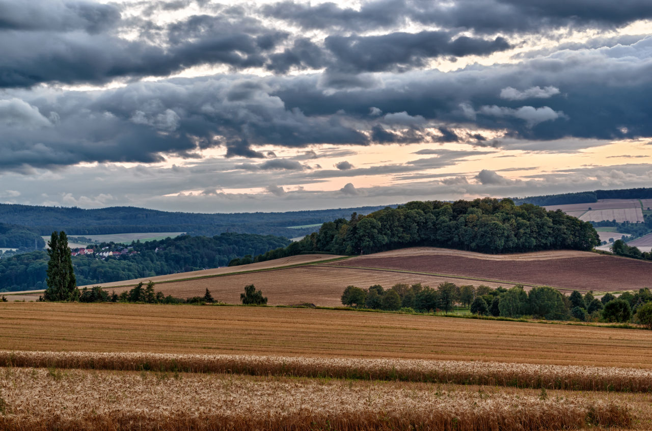 Einzelberg - Groß Schneen Einzelberg Groß Schneen Stormy Weather Agricultural Land Agriculture Cloud - Sky Clouds And Sky Field Landscape Niedersachsen No People Outdoors Rural Scene