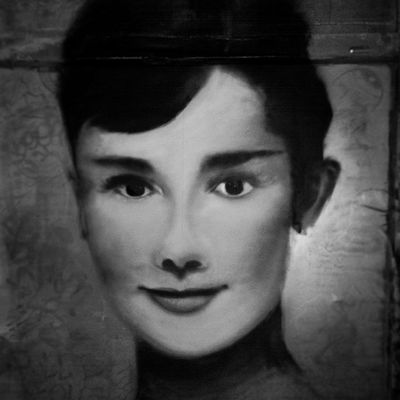 Mastrocola Spraypaint Portrait Audreyhepburn minor adjustments redstarmovement