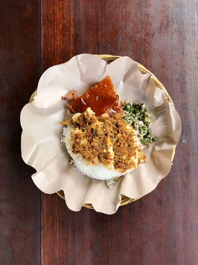 Babi Guling Plate Dinner Lunch Pork Balinese Food Balinese Culture Indonesian Food Rice - Food Staple Rice Plate Babi Guling Food Food And Drink Table Freshness Plate Indoors  Ready-to-eat Directly Above No People High Angle View Indulgence Meal Serving Size Close-up Still Life