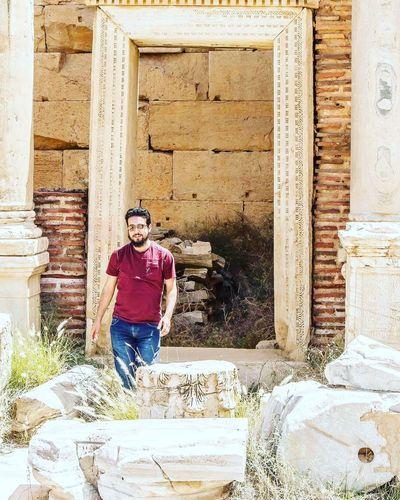 Architecture Built Structure One Person Building Exterior Outdoors Portrait Day Leptis Magna Libya Me Canonphotography