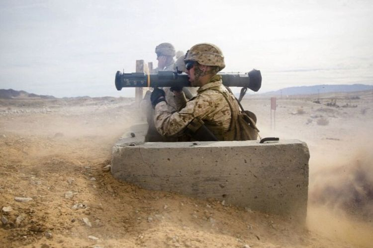 U.S Marines fire an AT-4 in Iraq USA Us Military USMC AT-4