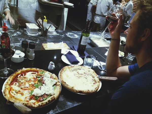 Lithuanian Food And Drink Food Togetherness Pizza Pizza Time Friends Handsome Guy