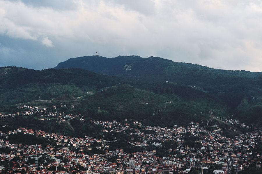 BIH Bosnia And Herzegovina Architecture Beauty In Nature Bosnia Building Exterior Cityscape Cloud - Sky Community Day Landscape Mountain Mountain Range Nature No People Outdoors Sarajevo Sky