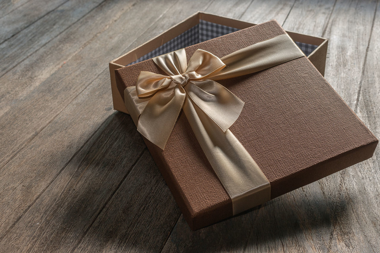 Empty Gift Box On Table