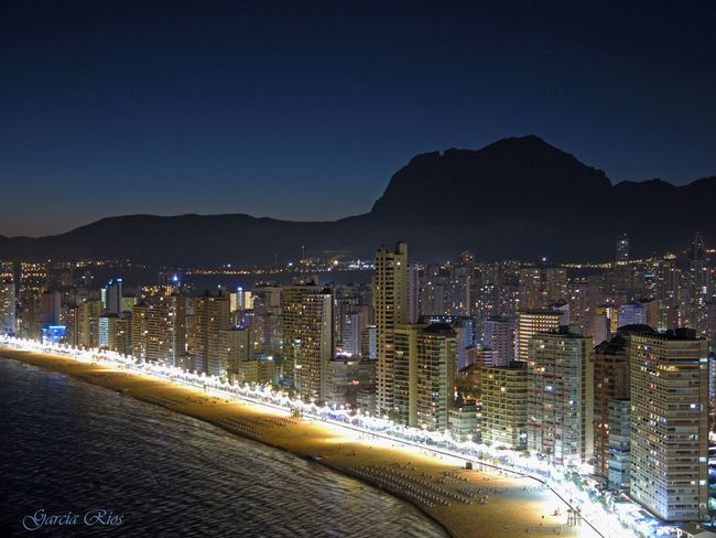 España🇪🇸 SPAIN Edificios Largaexposicion Manu García Manu Benidorm Spain Benidorm Cityes At Night