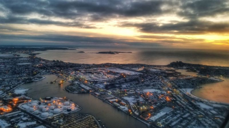 Good morning... 🌞☕ City Boston EyeEmNewHere EyeEm Best Shots Landscape Sunrise Morning Cityscape Water Nautical Vessel Sea Urban Skyline Sunset Aerial View Freight Transportation Harbor