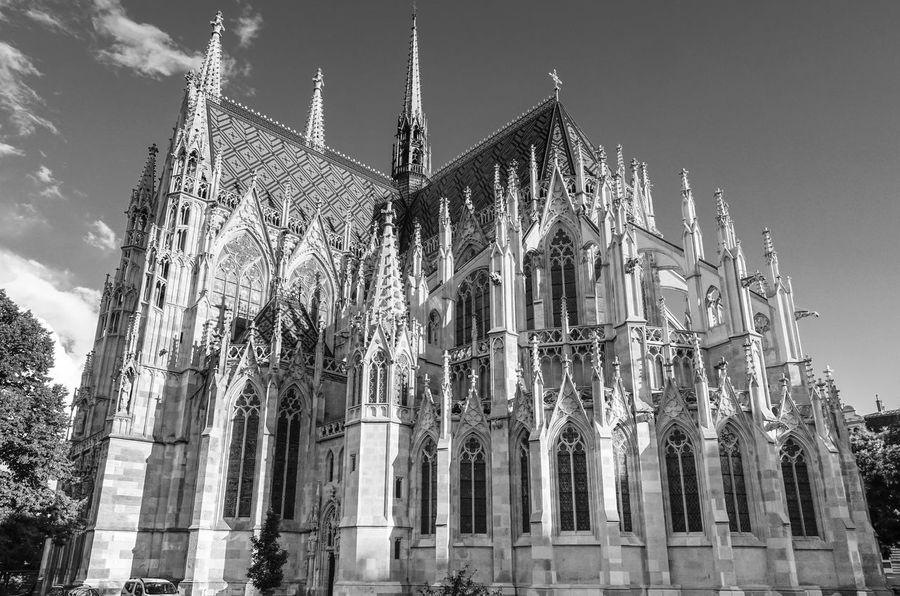 Apsis Architecture Architecture Architecture_bw Architecture_collection Art Black And White Building Exterior Built Structure Cathedral Chor Church Church Day Famous Place Favoriten Gothic Architecture History Low Angle View Monochrome Ornate Outdoors Place Of Worship Religion Spirituality Vienna