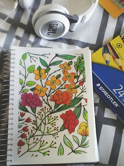 Art, Drawing, Creativity Colour Therapy JBLheadset Indoors  No People Paper Cold Day