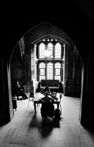 Time to study. University Of Toronto Study Hall Toronto Black And White Photography Toronto Travel