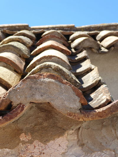 rooftiles Roof Rooftiles Sunlight Sky Close-up Construction Material Roof Tile Tiled Roof  Rooftop