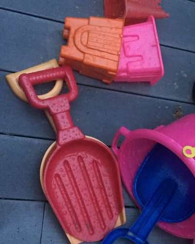 High Angle View No People Pink Color Day Outdoors Close-up Sand Vacations Beach In Michigan Summer SUMMER BREAK Sand Castle Toy Shovel Jamie Brown