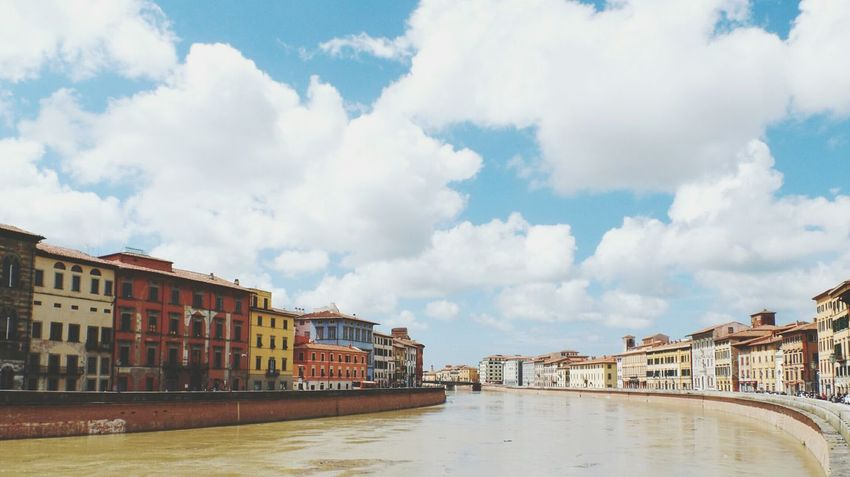 Pisa Clouds: paikura© ITALY EyeEm Best Shots AMPt_community Eye4photography  Canals Europe Cloud_collection  Italy