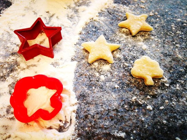 Butter Cookies Butter Biscuits Star Shape Homemade Food Homemade Biscuits Flour Dough Star Shape Food And Drink No People Indoors  High Angle View Cookie Food Sweet Food Food Stories
