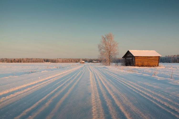 Snowy Road Cloud Cloud - Sky Cold Cold Temperature Composition Country Road Diminishing Perspective Field Finland Landscape No People Non-urban Scene Outdoors Perspective Remote Road Sky The Way Forward Transportation Vanishing Point Weather Winter