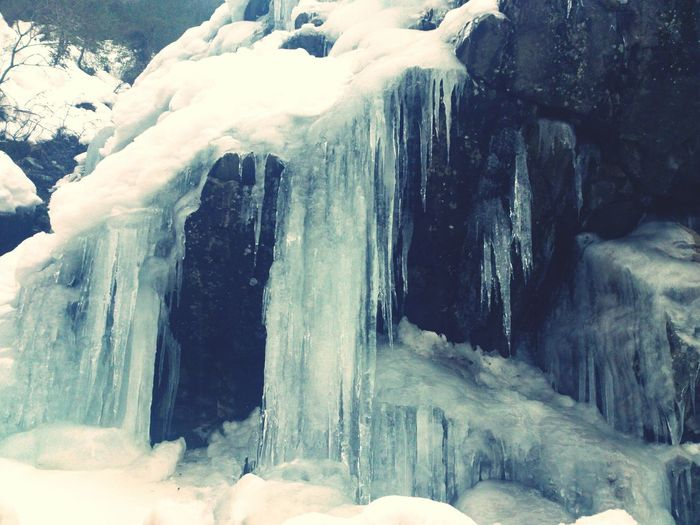 Icicles Crag -7° Taking Photos