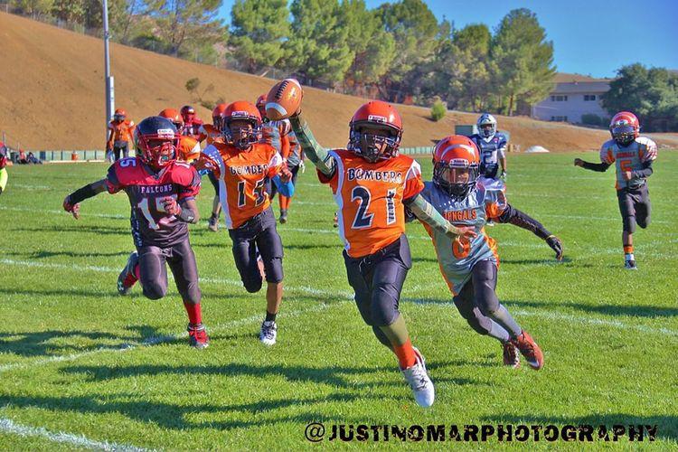 Game winning touchdown!!! First Eyeem Photo Popwarnerfootball Sfbrownbombers California Vallejo Bayarea