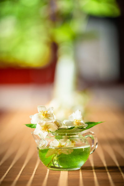 im chinesischen Teehaus Chinese Food Close-up Culture Drink Drinking Glass Flowering Plant Focus On Foreground Food Food And Drink Freshness Glass Glass - Material Household Equipment Nature No People Plant Still Life Table