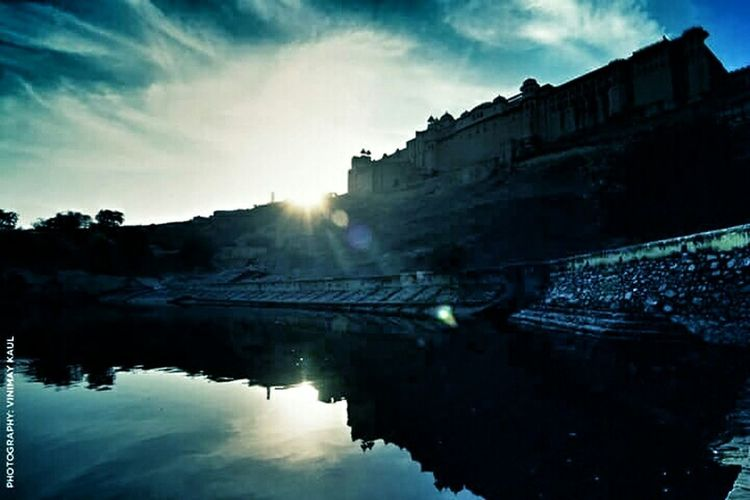 Evening View of the Grand Amer Fort Jaipur Rajasthan Incredible India Skyporn EyeEm Best Shots EyeEm Best Shots - Architecture Thegreatoutdoorswithadobe