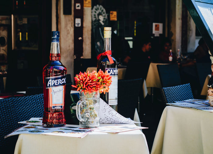 Archival Day Flower Italian Restaurant No People Venice Venice Restaurant Wine