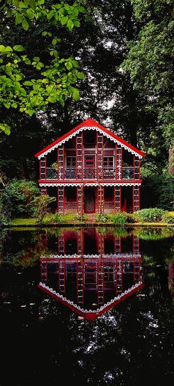 Built structure in garden