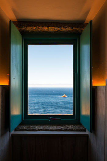 The window to the end of the world A Coruña Atlantic Ocean Blue Coastline Costa Da Morte Finisterre Fisterra Galicia Galiciacalidade Horizon Over Water Idyllic Ocean Remote Scenics Sea Seascape SPAIN Tranquil Scene Tranquility Window