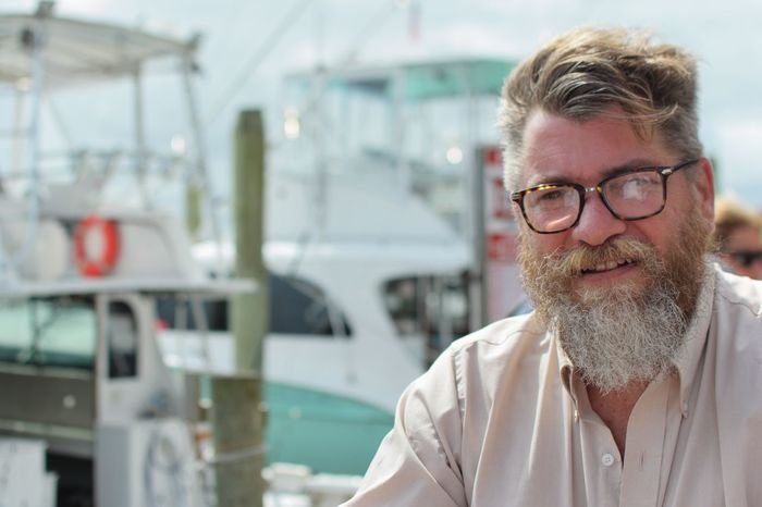 Me on a Dock Nautical Fishing Men Water Eyeglasses  Headshot Portrait Beard Gray Hair Front View Close-up Sky Harbor One Mature Man Only Marina Sailboat Boat Only Mature Men