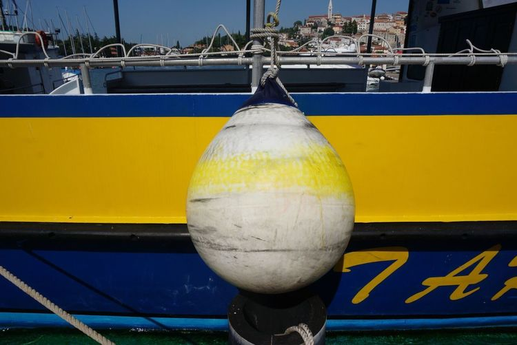 In the little Town of Vrsar Croatia Nautical Vessel Transportation Mode Of Transport Moored Harbor Marina Colors Ship Shootermag Ladyphotographerofthemonth Travel Destinations Summer Holiday Vacations Water_collection Waterfront Yellow Blue Commercial Dock Outdoors Fishing Boat EyeEm Best Shots Breathing Space Investing In Quality Of Life The Week On EyeEm Paint The Town Yellow Been There. Connected By Travel