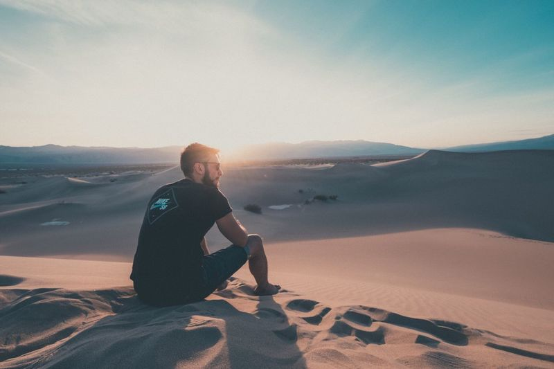 Lost In The Landscape Mesquite Flat Sand Dunes Death Valley National Park Beauty In Nature Scenics One Person The Week On EyeEm TheWeekOnEyeEM Travel Destinations EyeEm Selects Lost In The Landscape