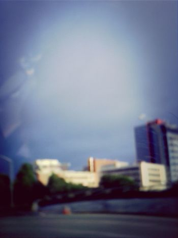 Oakland Blue Skies Taking Pictures Blury Pic
