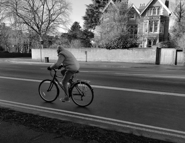 oxford's bicycle scenes Street_oxford Winter Scenes Black And White Photography Streetphotography Lifestyles Bicycle Transportation Cycling Tree Real People Street Road Mode Of Transport Riding Architecture Outdoors Building Exterior Stories From The City The Street Photographer - 2018 EyeEm Awards