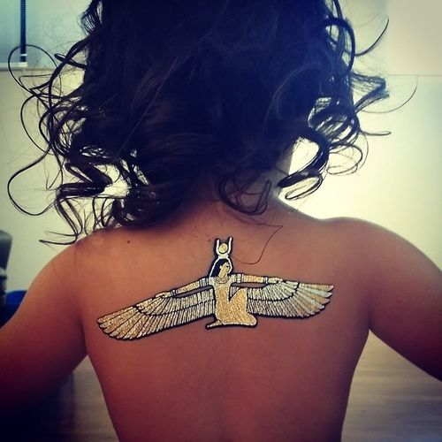 Fun with @flashtattoos Isis Wingedgoddess
