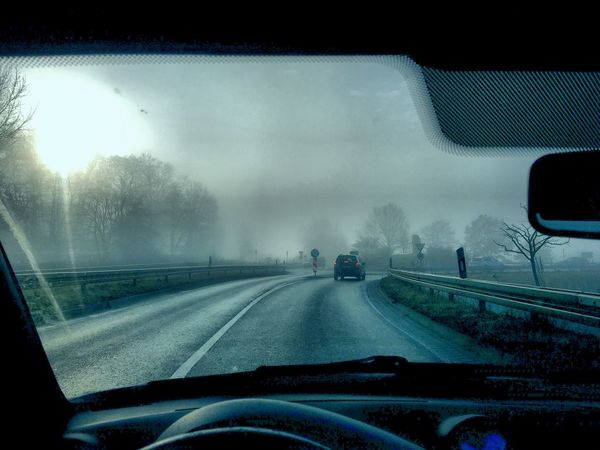 Transportation Windshield Vehicle Interior Weather Car Transparent Car Interior Mode Of Transport Road Car Point Of View Sky No People Nature The Way Forward Snow Dashboard Day Landscape Winter