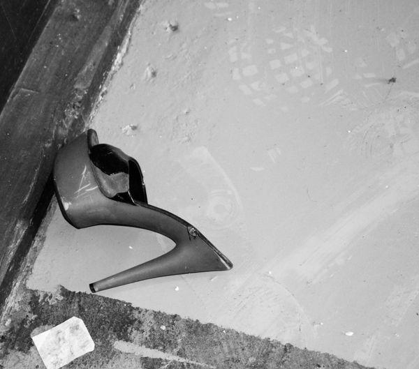 Blackandwhite Black And White Black & White Blackandwhite Photography Abandoned Places Abandoned Buildings Abandoned & Derelict Abandoned High Heel High Heels Shoe Fmp