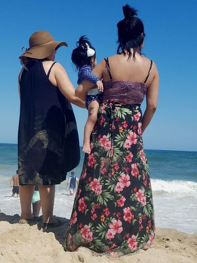 Three Generetion Of Woman Vacationing Beach Sea Sand Sky Summer Traditions Enjoying The View Women Enjoying Life Making Memories! :)