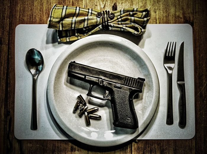 Dinner Directly Above Eating Utensil Stop Gun Violence Table Welcome To Black