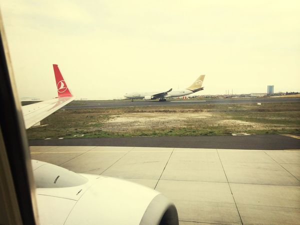 From An Airplane Window Hello World Aircraft Libyan air lines & Turkish ✈️