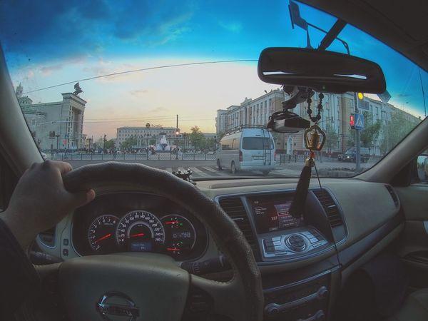 Car Driving Buryatia, Russia, Ulan-Ude