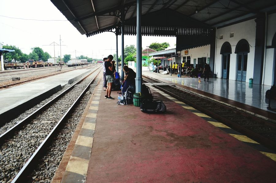 Waiting for the train at Probolinggo station Train Station Train Station Probolinggo Java INDONESIA Backpacking