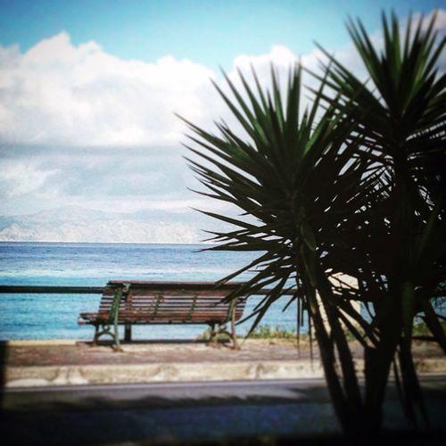 Hello World Relaxing Bench Greek Islands Rhodes Sea View First Eyeem Photo