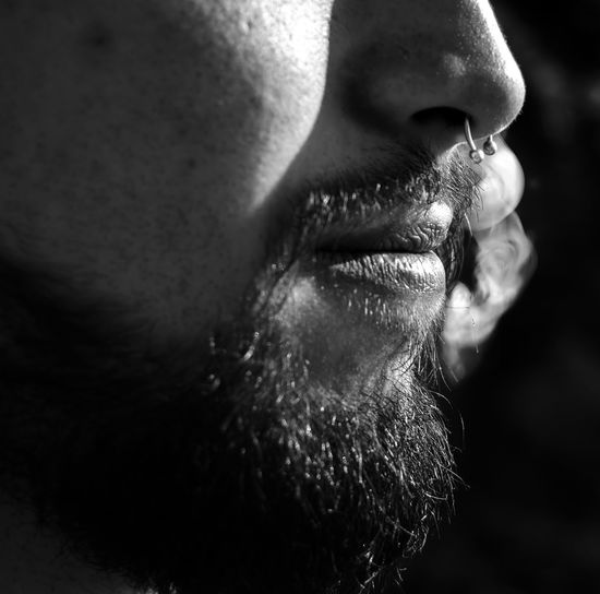 Portrait Portrait Photography Beard Blackandwhite Photography Smoke Septum Black And White Human Lips Eyelash Black Background Human Eye Human Face Portrait Beauty Human Nose Men Human Skin Nose Facial Hair The Portraitist - 2018 EyeEm Awards