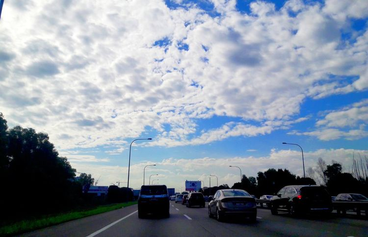 Car Cloud - Sky Transportation Land Vehicle Mode Of Transport Road Tree Sky Day Outdoors Traffic Flow