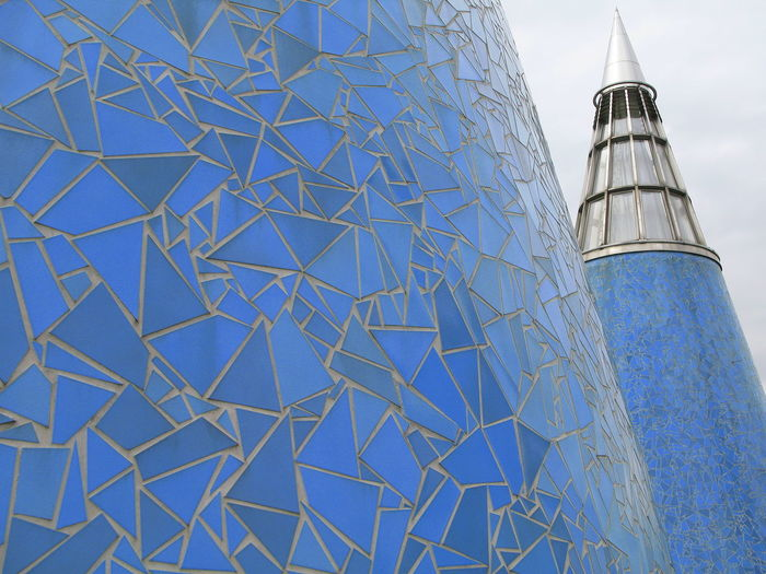 Art Museum Art Museum, Bonn Blue Blue Ceramics Blue Color Bonn Art Museum Ceramics Cones Conic Conical Conical Roof Top Outdoors Roof Top Roof Tops