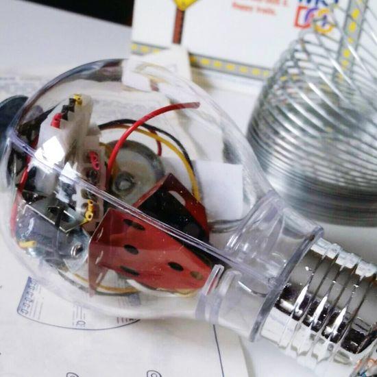 VINTAGE Erector Style Bulb- Desk Gadgets. Original Art Design Showyourwork Lights Officelife Eclectic Etsyshop
