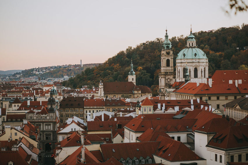 Castle Czech Republic Prague Architecture Belief Building Building Exterior Built Structure City Cityscape Community Evening Nature Outdoors Religion Roof Spirituality Sunset TOWNSCAPE