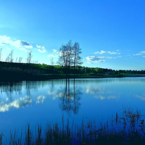 Shades On Blue Reflection Water Lake Nature Blue Sky Outdoors Beauty In Nature Discover Finland Colours Of Nature Finland This Is Finland Discover Nature Suomi100 Suomi Suomi Finland Finnish Nature Finnish Summer Nature Photography Beauty In Nature