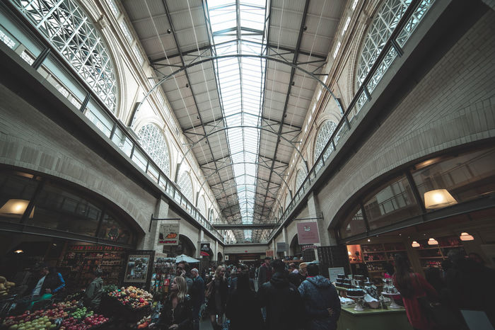 Architecture Busy Ceiling Crowd Ferry Building Large Group Of People Lifestyles People Real People San Francisco Shopping